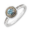 Stackable Expressions Sterling Silver & 14k Blue Topaz Ring