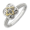 Stackable Expressions Sterling Silver & 14k Diamond Ring