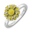 Stackable Expressions Sterling Silver Daisy Ring
