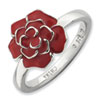 Stackable Expressions Sterling Silver Rose Ring