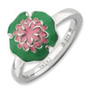 Stackable Expressions Sterling Silver Water Lily Ring