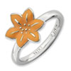 Stackable Expressions Sterling Silver Gladiolus Ring