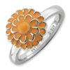 Stackable Expressions Sterling Silver Chrysanthemum Ring