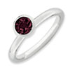 Stackable Expressions Sterling Silver High 5mm June Swarovski Elements Ring