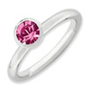Stackable Expressions Sterling Silver High 5mm October Swarovski Elements Ring
