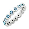 Stackable Expressions Sterling Silver March Swarovski Elements Ring