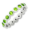 Stackable Expressions Sterling Silver August Swarovski Elements Ring