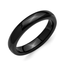 Chisel Ceramic Black 4mm Polished Band