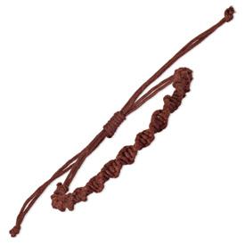 Chisel Adjustable Brown Twisted Cotton Braid Bracelet Set
