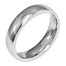 Chisel Stainless Steel 5mm Polished Band