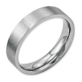 Chisel Stainless Steel Flat 5mm Brushed Band