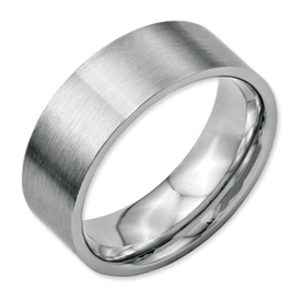 Chisel Stainless Steel Flat 8mm Brushed Band
