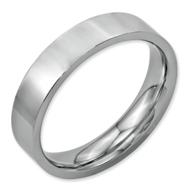 Chisel Stainless Steel Flat 5mm Polished Band