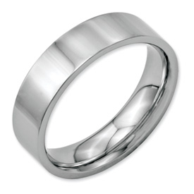 Chisel Stainless Steel Flat 6mm Polished Band