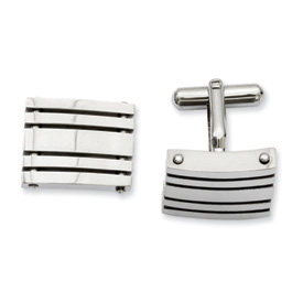 Chisel Stainless Steel Polished Cuff Links