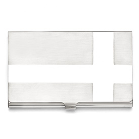 Stainless Steel Polished and Brushed Card Holder