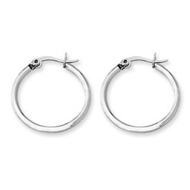Chisel Stainless Steel 22mm Diameter Hoop Earrings