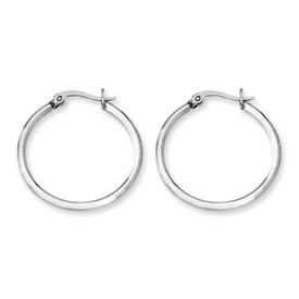 Chisel Stainless Steel 27mm Diameter Hoop Earrings