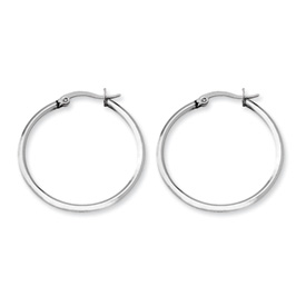 Chisel Stainless Steel 32.50 mm Diameter Hoop Earrings