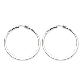 Chisel Stainless Steel Polished 50mm Hoop Earrings