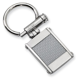 Chisel Stainless Steel Grey Carbon Fiber Key Chain