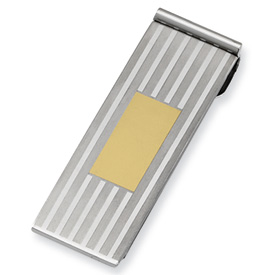 Chisel Stainless Steel Gold-plated Money Clip
