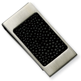 Chisel Stainless Steel Black Stingray Money Clip