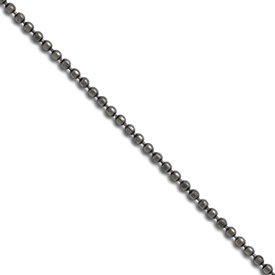 Stainless Steel 2.00 mm 18 inch Beaded Ball Antiqued Chain