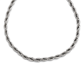 Chisel Stainless Steel Polished 6mm Rope Necklace