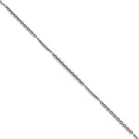 Stainless Steel Polished Fancy Link Necklace