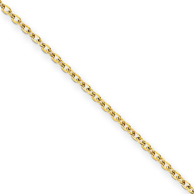 Chisel Stainless Steel Gold-plated 2.30mm 18 inch Cable Chain