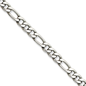 Chisel Stainless Steel 5.30mm 24 inch Figaro Chain