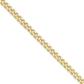 Chisel Stainless Steel Gold-plated 3.0mm 18 inch Curb Chain