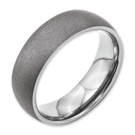 Chisel Titanium Stone Finish 7mm Band