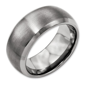 Chisel Titanium Beveled Edge 10mm Satin and Polished Band