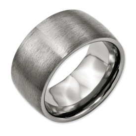 Chisel Titanium 12mm Satin Band