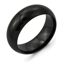 Chisel Titanium Black 6mm Polished Band
