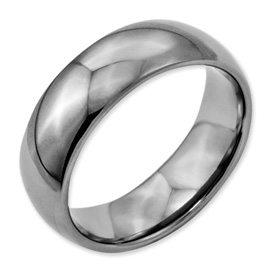 Chisel Titanium Polished Comfort Fit 7mm Wedding Band