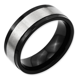Chisel Titanium 8mm Two-tone Brushed Band