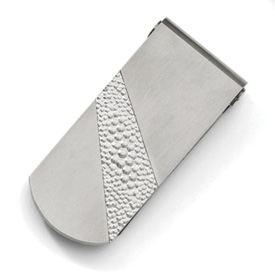 Chisel Titanium Pebble Textured Money Clip