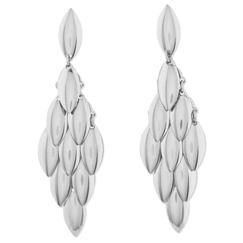 Stainless Steel Teardrop Chandelier Earrings