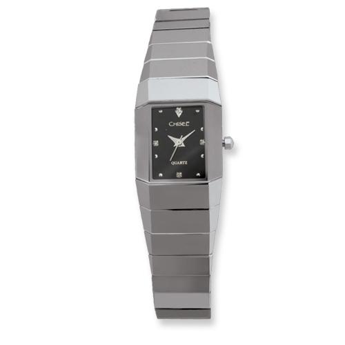 Chisel Ladies Chisel Tungsten Black Dial Watch