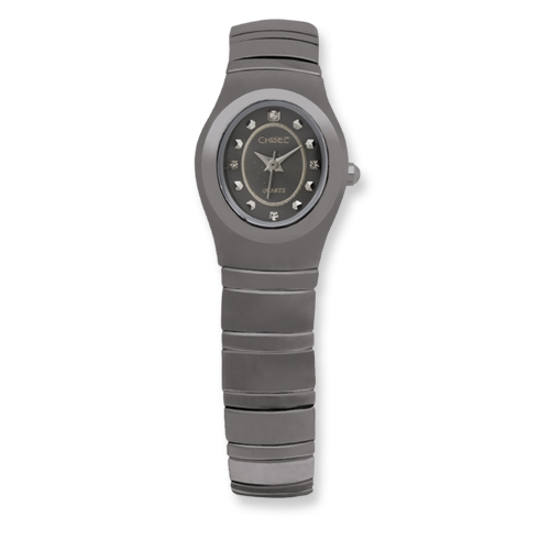 Chisel Ladies Chisel Tungsten Black Dial Watch