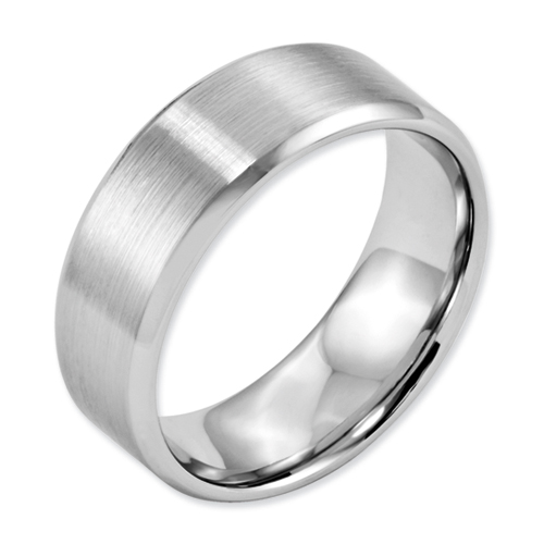 Chisel Cobalt Chromium Satin and Polished 8mm Band
