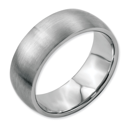 Chisel Stainless Steel 8mm Brushed Band