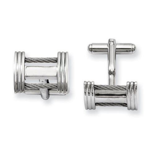 Chisel Stainless Steel Wire Cuff Links