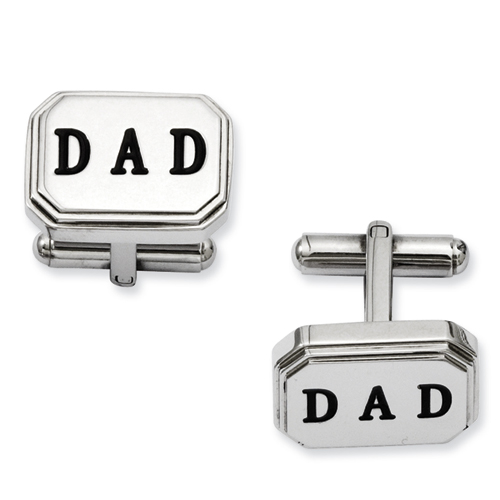 Chisel Stainless Steel Dad Cuff Links
