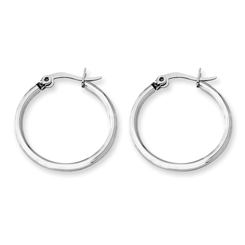 Chisel Stainless Steel 22mm Diameter Hoop Earrings