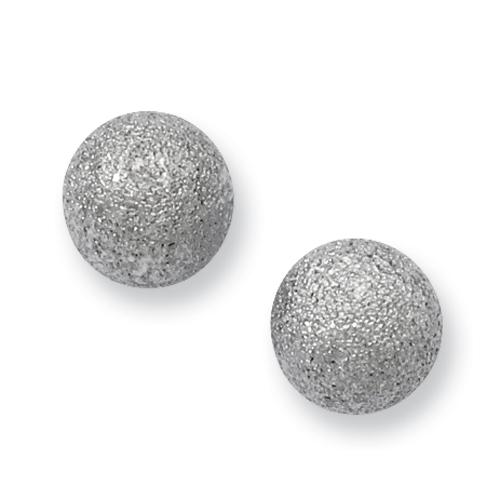 Chisel Stainless Steel Laser Cut 8mm Bead Post Earrings
