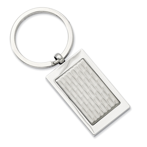 Chisel Stainless Steel Textured Key Ring